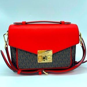 Michael Kors Rose Medium Messenger Bag Crossbody